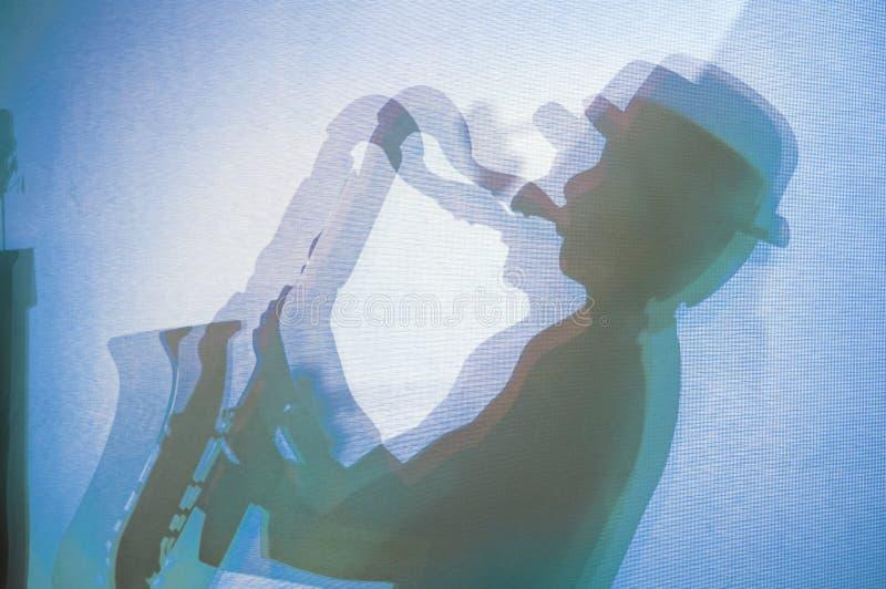jazzspelare royaltyfri bild