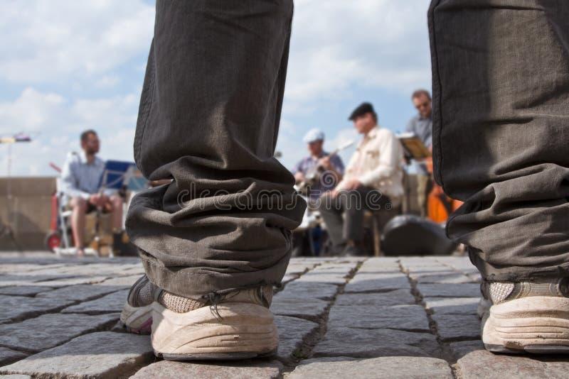 Jazzstraßenleistung stockfotografie