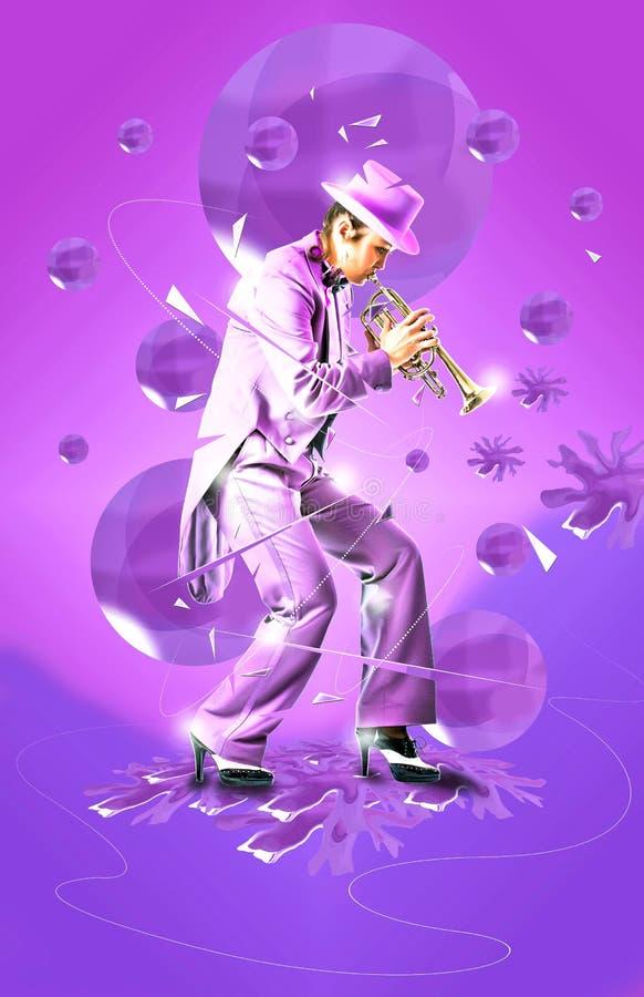 Jazztrompetekunst stockbilder