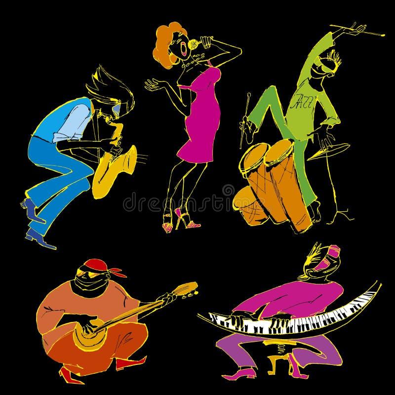 jazzu przyjęcie ilustracja wektor