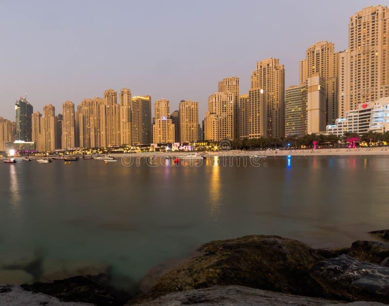 JBR Dubai foto de archivo libre de regalías