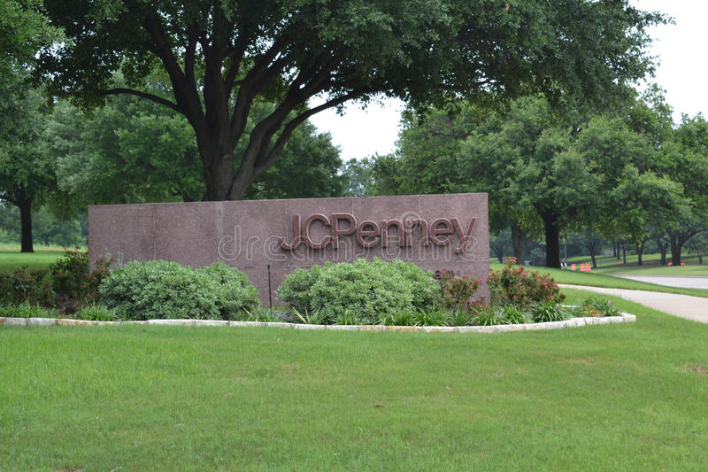 JC Penney Corporate Headquarters in Plano Texas. Sign in front of the JC Penney Corporate Headquarters in Plano Texas royalty free stock photography