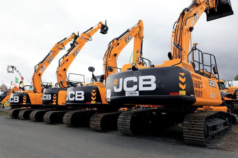 JCB Tracked Excavators on Display stock images