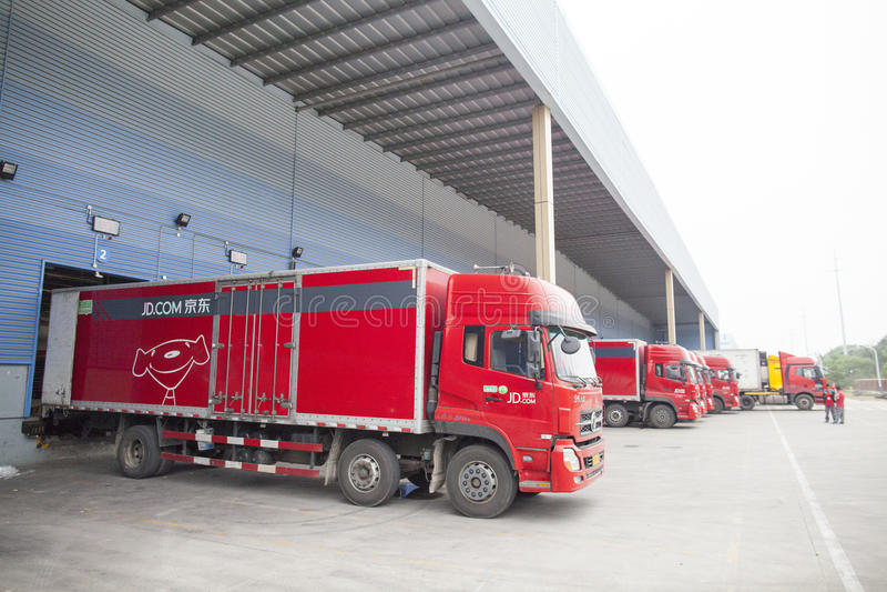 JD camions de COM photo stock
