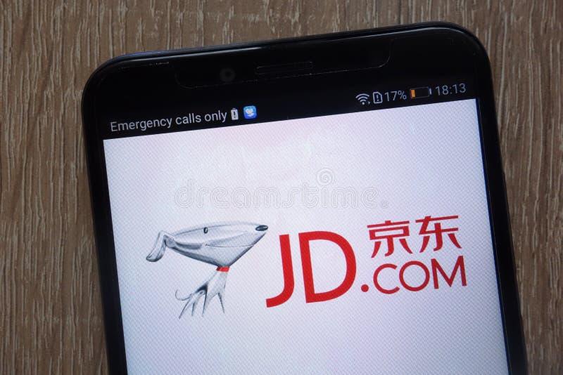 JD COM-Logo angezeigt auf einem modernen Smartphone lizenzfreies stockfoto