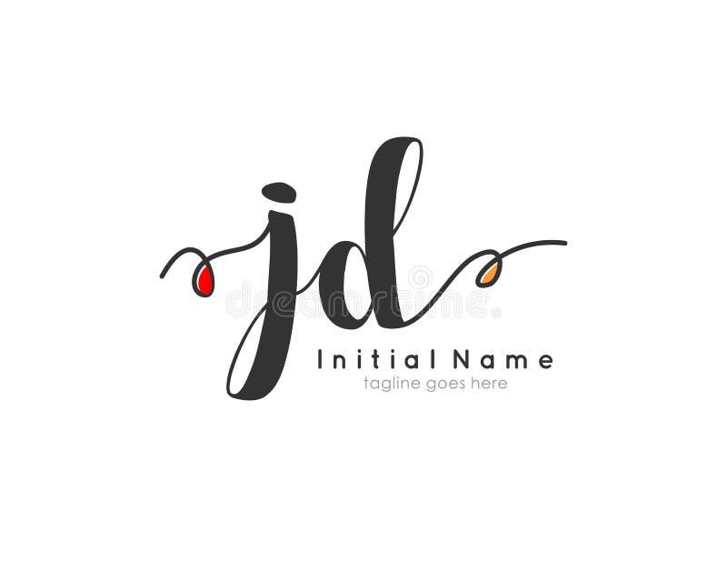 letter jd signature logo template vector stock vector illustration of letter monogram 182718210 dreamstime com