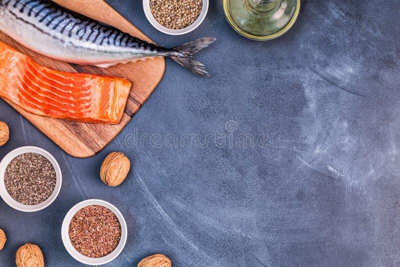 jeść zdrowo pojęcia Źródła omega 3 obrazy royalty free