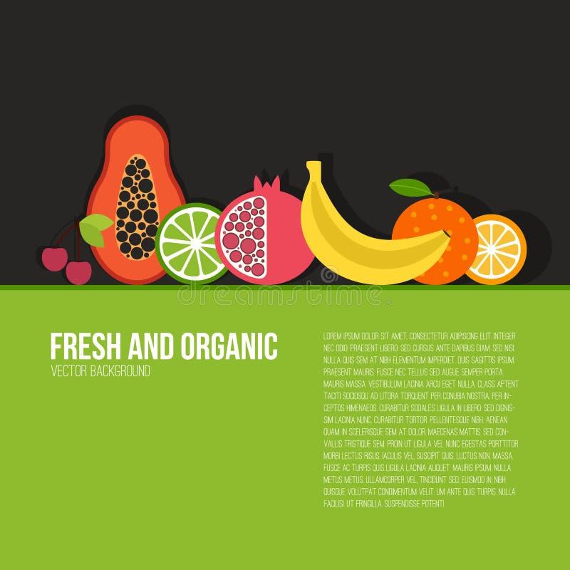jeść zdrowo pojęcia ilustracji
