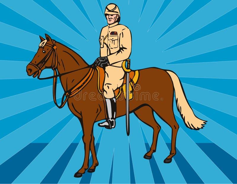jeźdźcy hussar światło ilustracja wektor