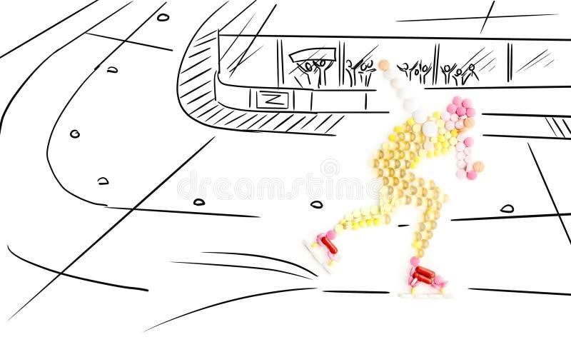 Jeździć na łyżwach i podawać doping. obraz stock