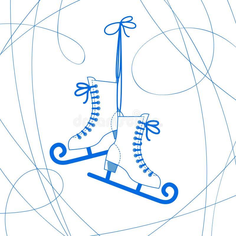 Jeździć na łyżwach wektor ilustracja wektor