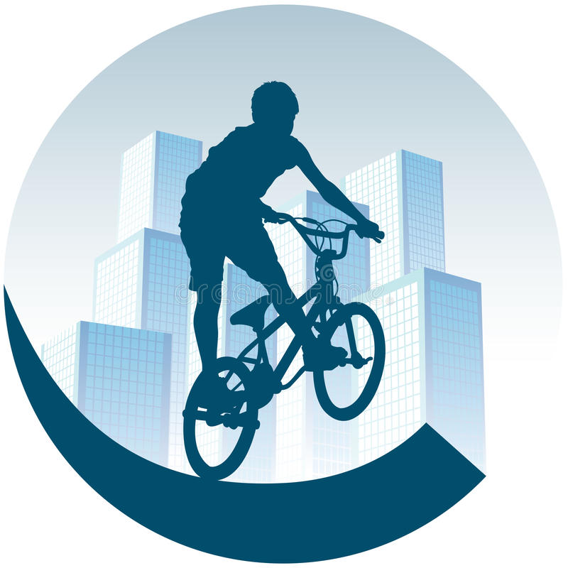 Jeździć na rowerze w miasteczku