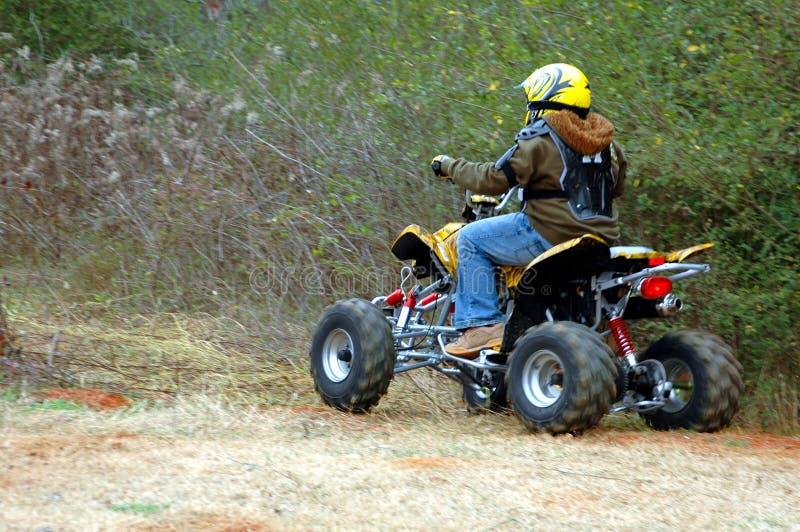 jeździec atv fotografia stock