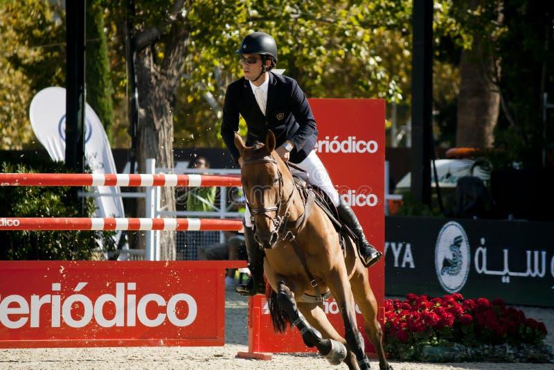 Jeździec CSIO Barcelona fotografia royalty free