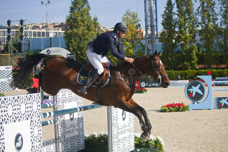 Jeździec CSIO Barcelona obraz stock
