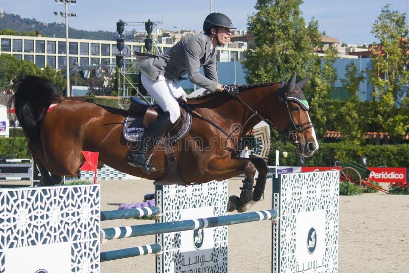 Jeździec CSIO Barcelona fotografia stock