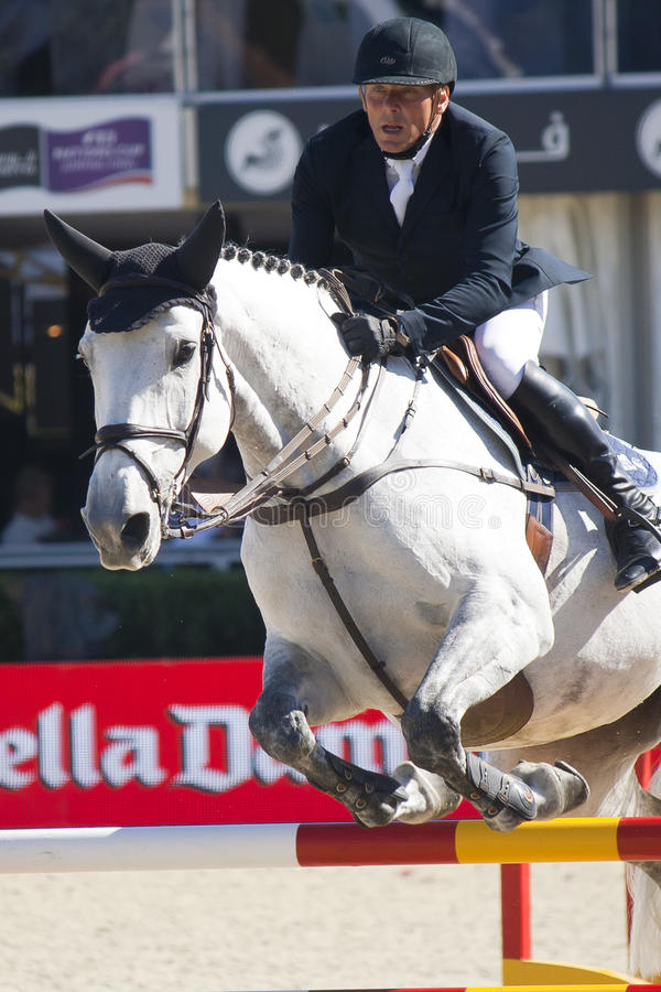 Jeździec CSIO Barcelona zdjęcia royalty free