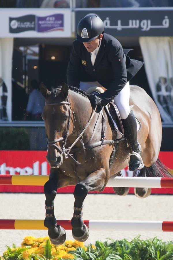 Jeździec CSIO Barcelona zdjęcie stock
