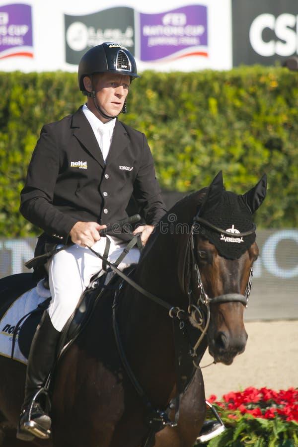 Jeździec EHNING, Marcus Niemcy CSIO Barcelona fotografia royalty free