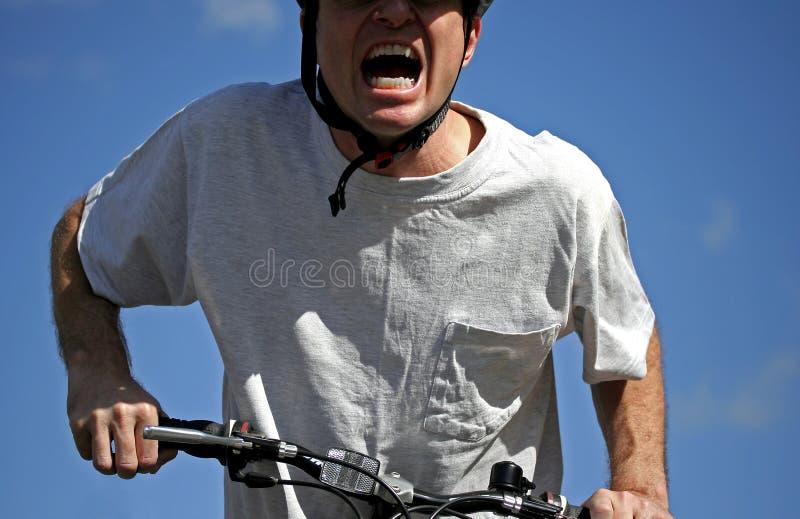jeździec intensywnego roweru zdjęcia stock