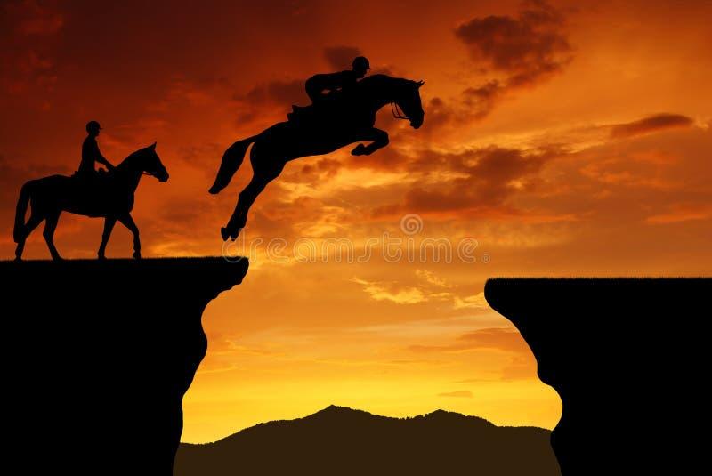 Jeździec na skokowym koniu fotografia royalty free