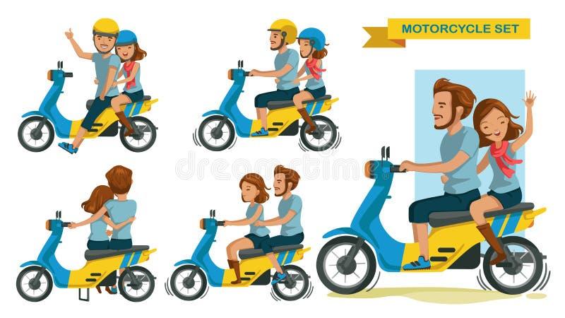 Jeździec para royalty ilustracja