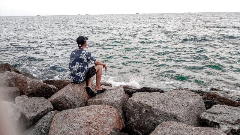 Je ciel de mer images libres de droits