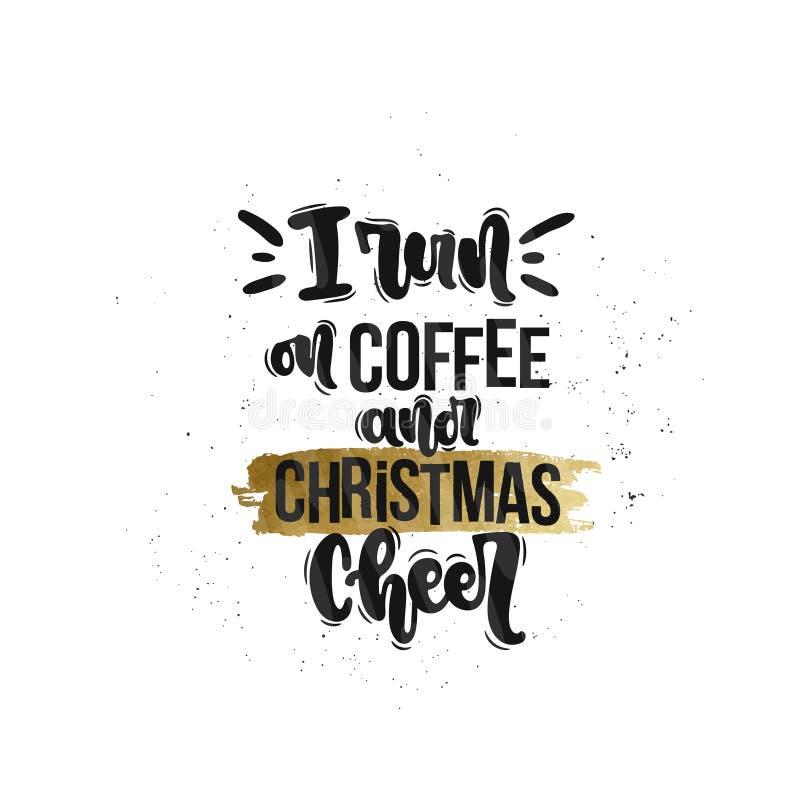 Je cours sur le café et l'acclamation de Noël illustration libre de droits