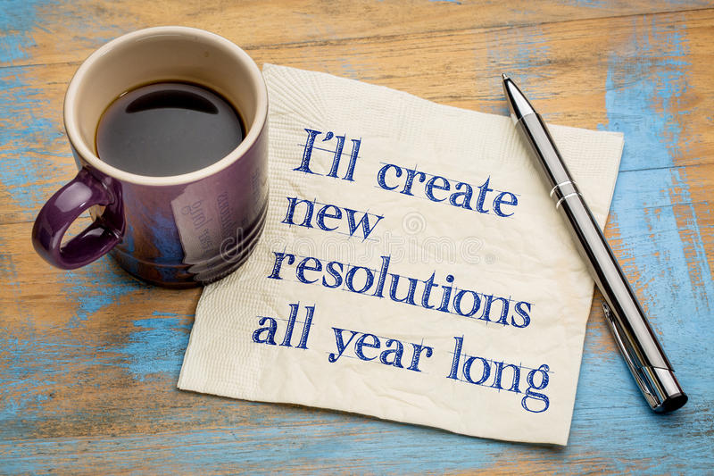 Je créerai de nouvelles résolutions tout au long de l'année photo libre de droits