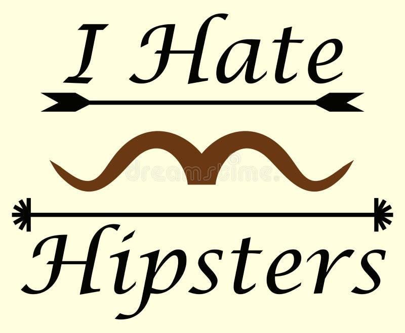 Je déteste des hippies illustration libre de droits