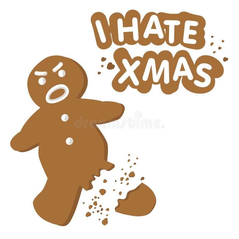 Je déteste Noël (le vecteur) illustration libre de droits