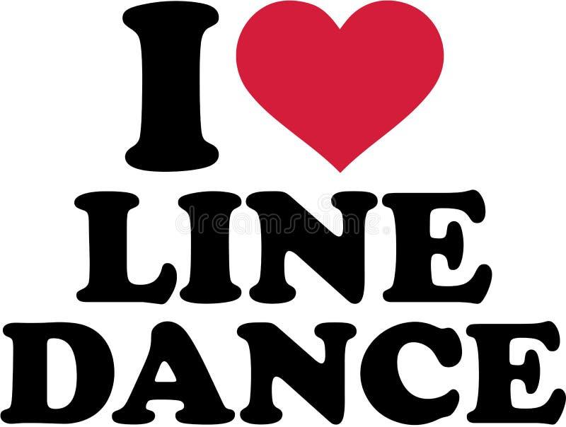 Je ligne danse d'amour illustration stock
