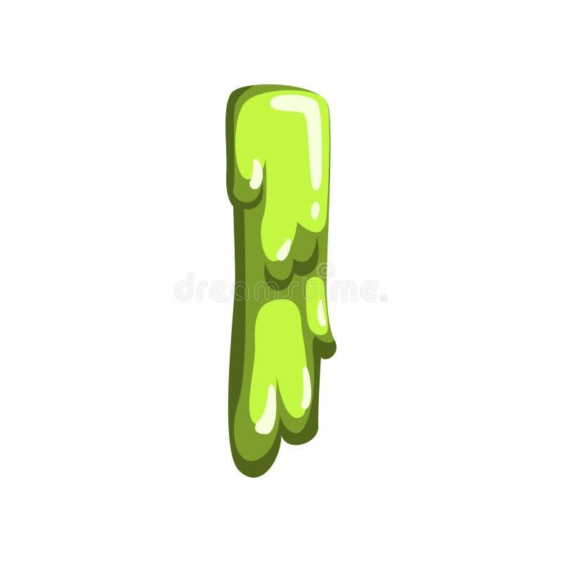 Je marque avec des lettres de la gelée de fruit douce, illustration liquide brillante et comestible de vecteur de police sur un f illustration de vecteur