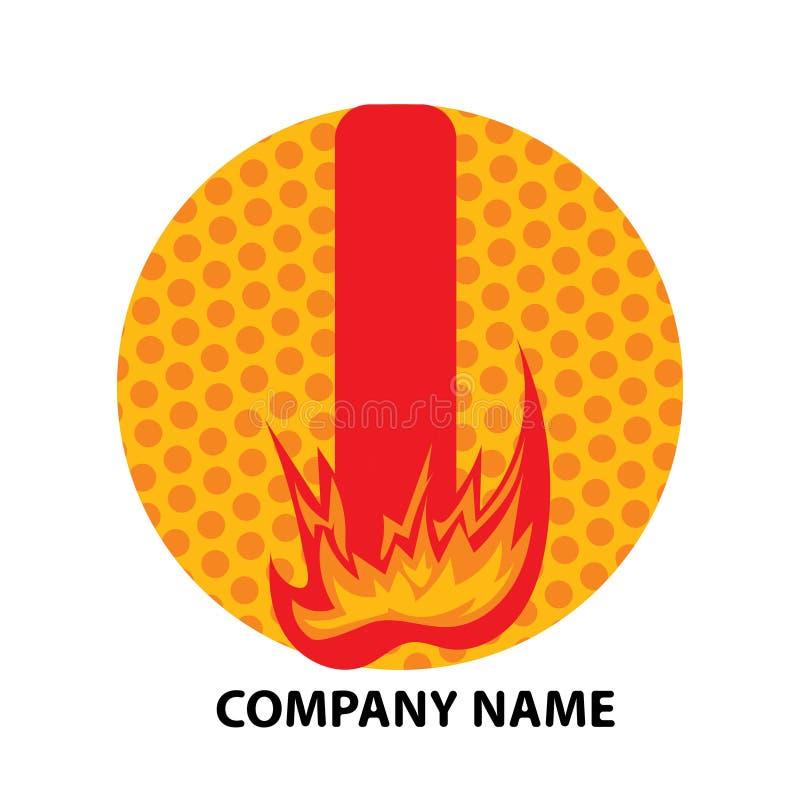 Je marque avec des lettres la conception de logo illustration libre de droits