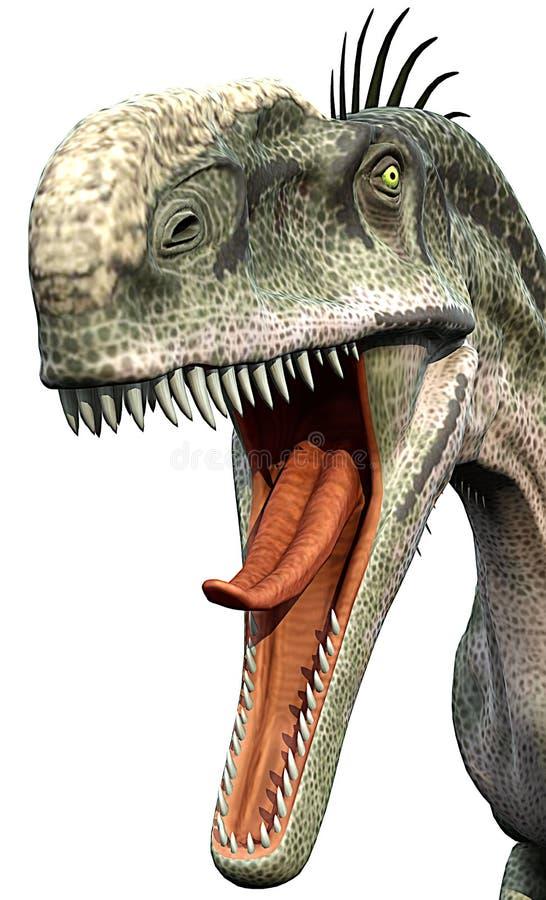 je monolophosaurus przygotowywającego ilustracji