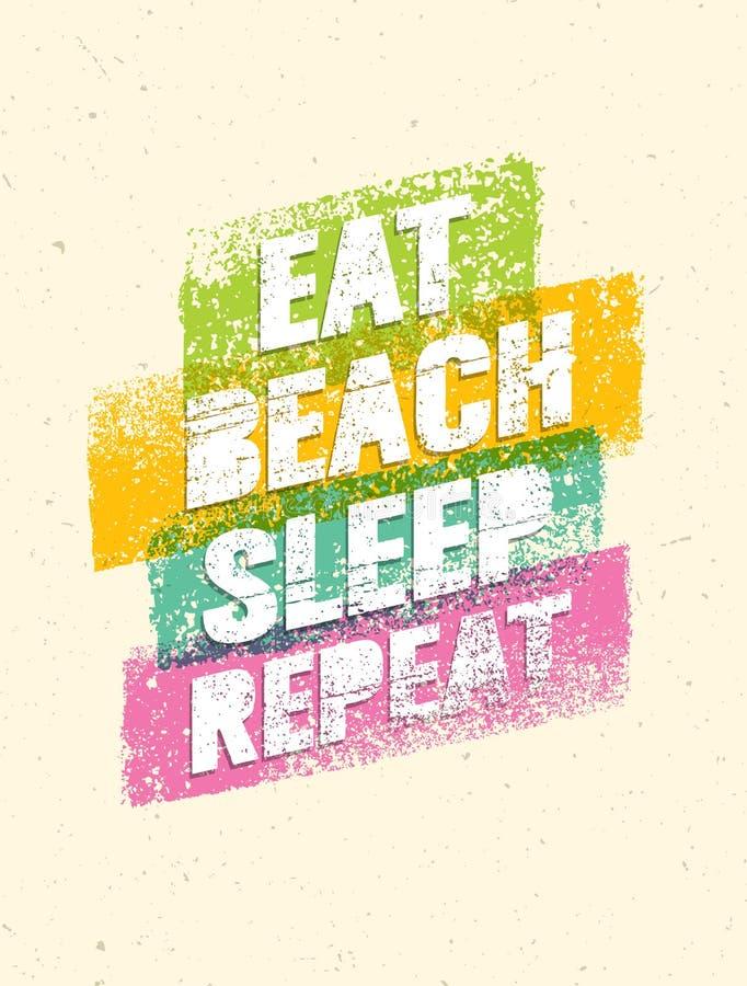 Je Plażowego sen powtórka Lato Być na wakacjach motywaci wycena Wektorowy Plakatowy pojęcie ilustracja wektor
