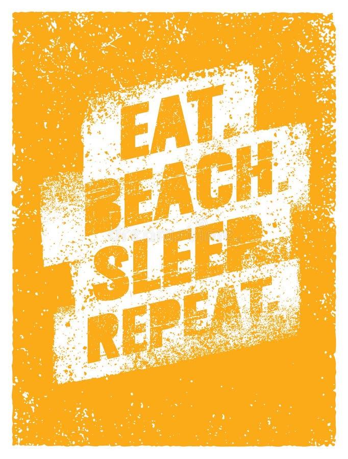 Je Plażowego sen powtórka Lato Być na wakacjach motywaci wycena Wektorowy Plakatowy pojęcie royalty ilustracja