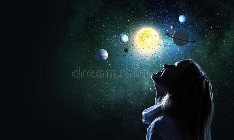 Download Je serai astronaute image stock. Image du nuit, lumineux - 56480417