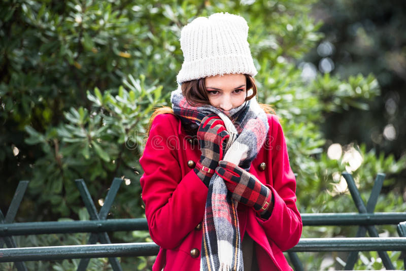 Je suis froid image stock