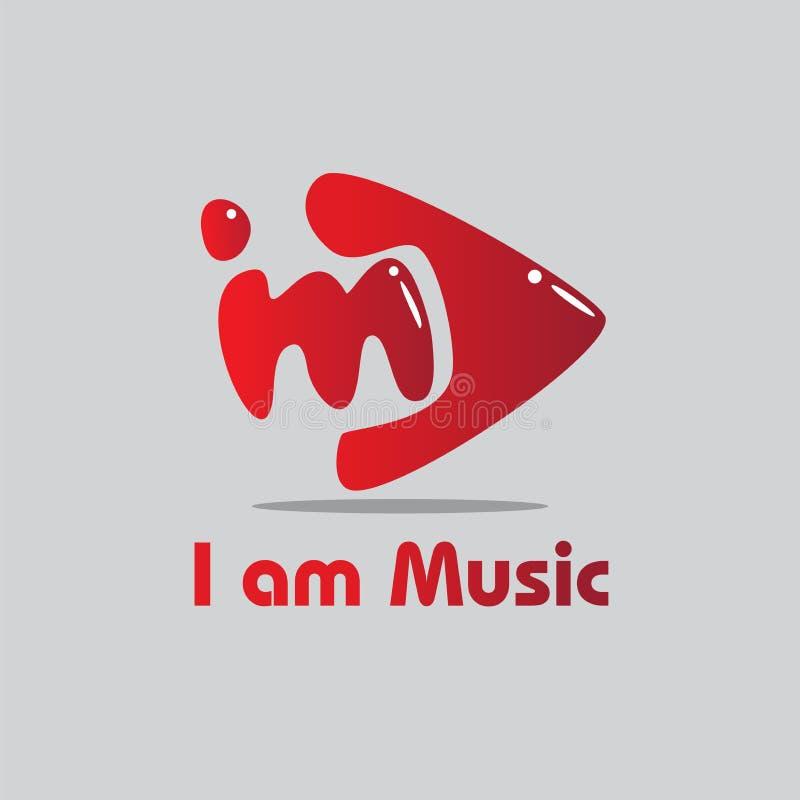 Je suis musique Logo Brand illustration stock