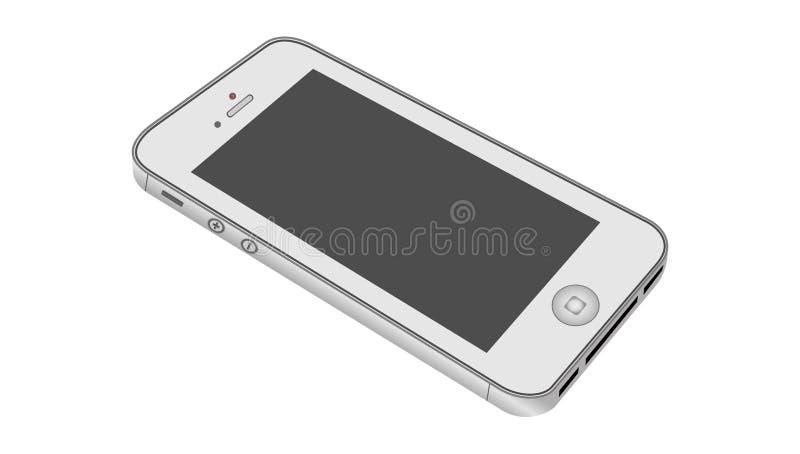 Je téléphone d'isolement sur le fond blanc Illustration de vecteur illustration de vecteur