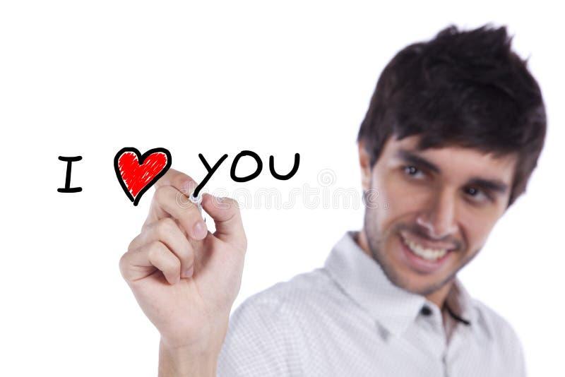 Je t'aime image stock