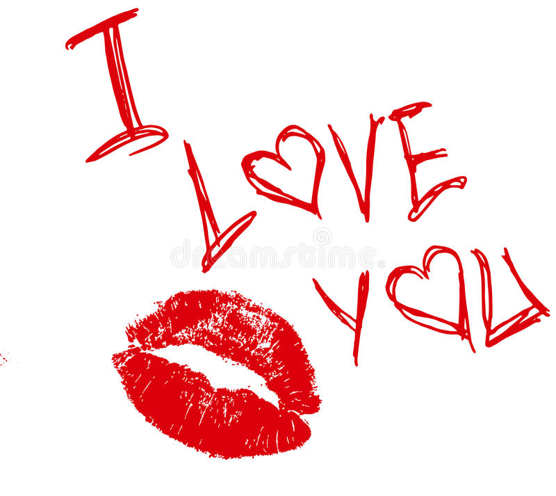 Je t'aime. illustration stock