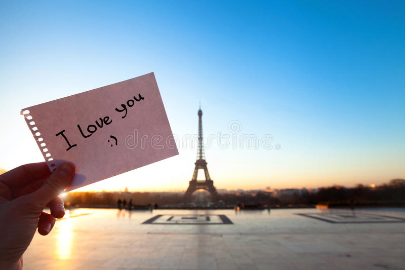 Je t'aime images stock