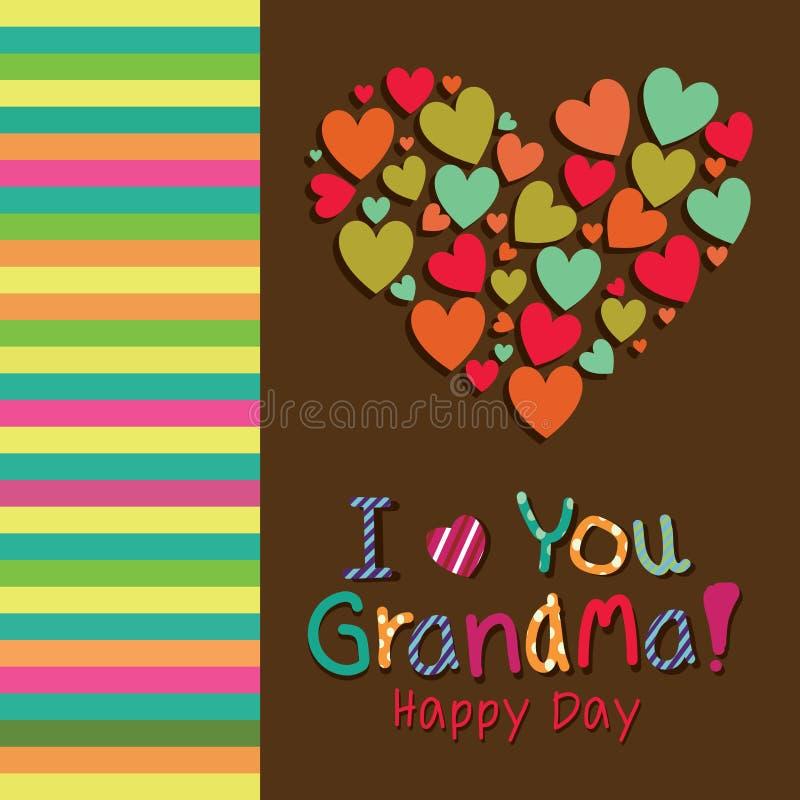 Je t'aime grand-maman illustration libre de droits