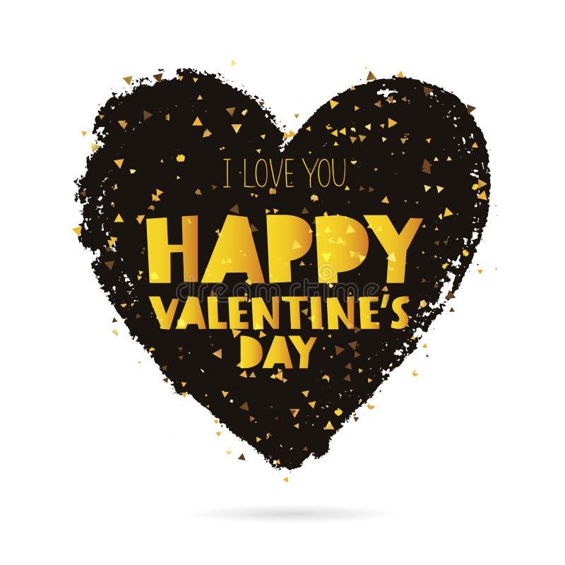 Je t'aime Jour heureux du `s de Valentine illustration de vecteur