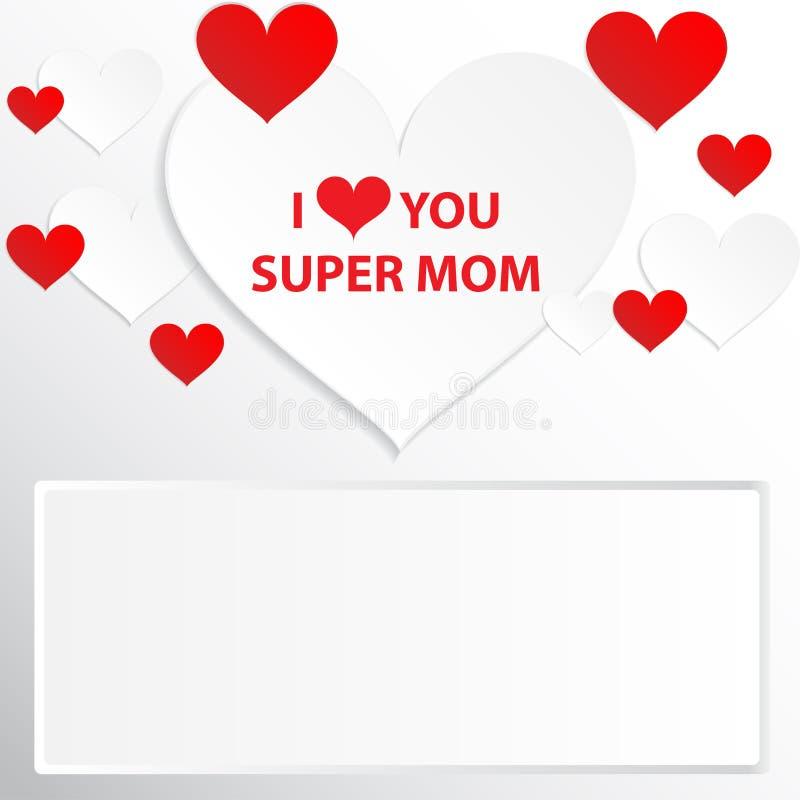 Je t'aime maman illustration de vecteur