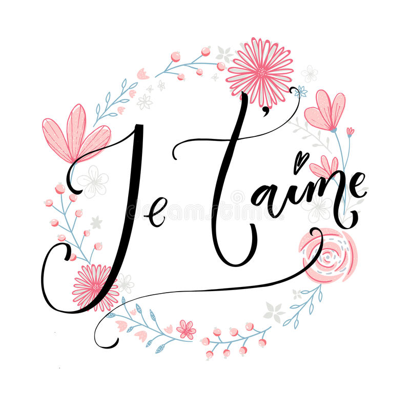 Je`taime french phrase means i love you romantic quote