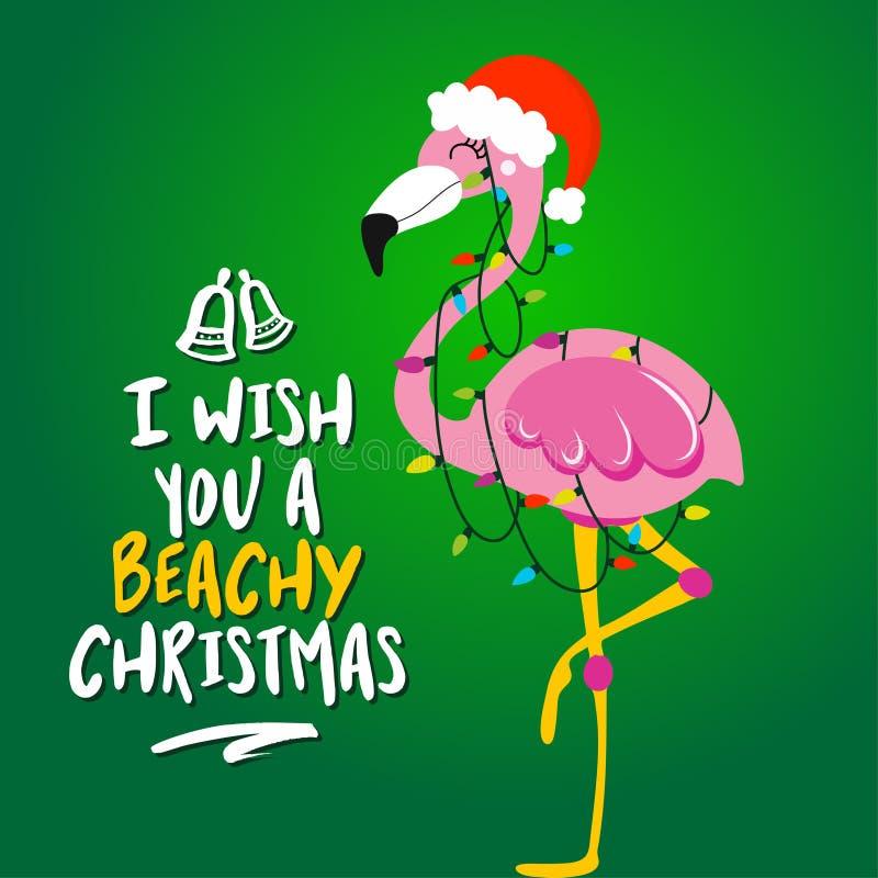Je te souhaite Noël pour la plage illustration libre de droits