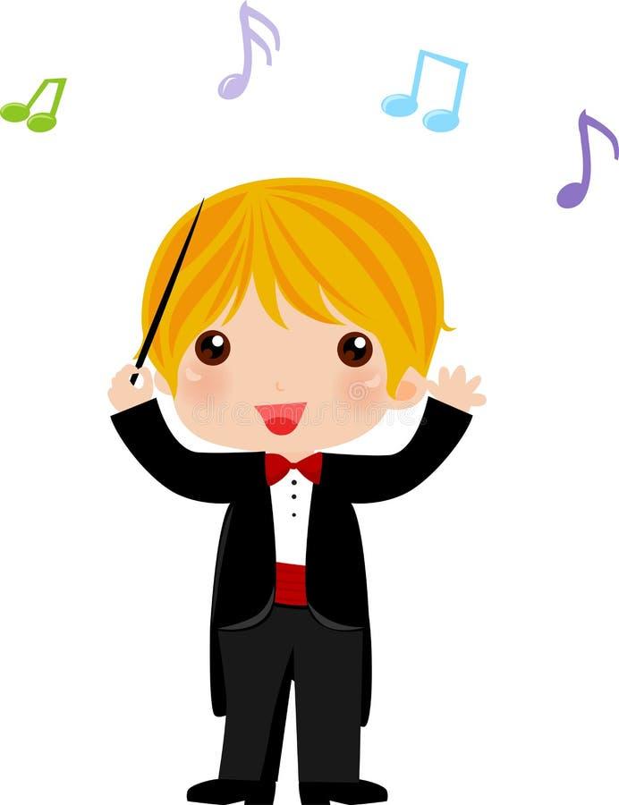Je veux être un conducteur d'orchestre quand je grandis illustration libre de droits